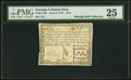 Colonial Notes:Georgia, Georgia June 8, 1777 $1/4 PMG Very Fine 25.. ...