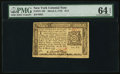 Colonial Notes:New York, New York March 5, 1776 $1/3 PMG Choice Uncirculated 64 EPQ.. ...