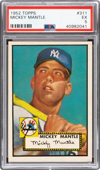 1952 Topps Mickey Mantle #311 PSA EX 5