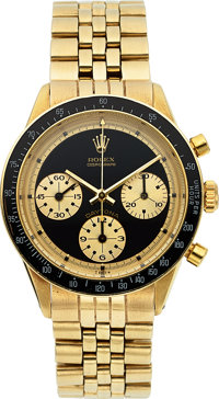 "Rolex, Very Fine and Rare 14k Gold Ref. 6241 ""Paul Newman"" Cosmograph Daytona ""John Player Special""..."