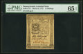 Colonial Notes:Pennsylvania, Pennsylvania March 25, 1775 14s PMG Gem Uncirculated 65 EPQ.. ...