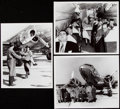 Football Collectibles:Photos, c. 1940 Packers - First NFL Team Flight - Vintage Photograph Lot of 8. . ...