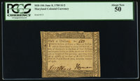Maryland June 8, 1780 $1/2 PCGS About New 50
