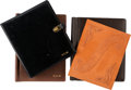 Movie/TV Memorabilia:Documents, Robert Mitchum Group of Leather Script Covers (1950s-1980s).... (Total: 4 Items)