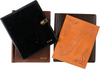 Robert Mitchum Group of Leather Script Covers (1950s-1980s)