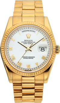 Rolex Ref. 118238 Yellow Gold Oyster Perpetual Day-Date President, circa 2001