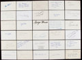 Autographs:Index Cards, Football Greats & Hall of Famers Signed Index Card/Postcard Lotof 93.. ...