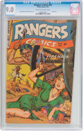 Golden Age (1938-1955):War, Rangers Comics #63 (Fiction House, 1952) CGC VF/NM 9.0 Cream tooff-white pages....
