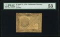 Colonial Notes:Continental Congress Issues, Continental Currency April 11, 1778 $7 PMG About Uncirculated 53.. ...