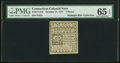 Colonial Notes:Connecticut, Connecticut October 11, 1777 7d PMG Gem Uncirculated 65 EPQ.. ...