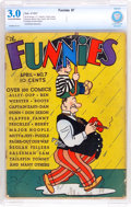 Platinum Age (1897-1937):Miscellaneous, The Funnies #7 (Dell, 1937) CBCS GD/VG 3.0 Cream to off-whitepages....