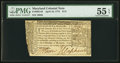 Colonial Notes:Maryland, Maryland April 10, 1774 $1/3 PMG About Uncirculated 55 EPQ.. ...