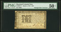Colonial Notes:Maryland, Maryland March 1, 1770 $2/9 PMG About Uncirculated 50 Net.. ...