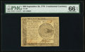 Colonial Notes:Continental Congress Issues, Continental Currency September 26, 1778 $60 PMG Gem Uncirculated 66 EPQ.. ...