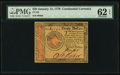 Colonial Notes:Continental Congress Issues, Continental Currency January 14, 1779 $20 PMG Uncirculated 62 EPQ.....