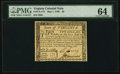 Colonial Notes:Virginia, Virginia May 1, 1780 $2 PMG Choice Uncirculated 64.. ...