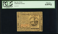 Continental Currency May 10, 1775 $2 PCGS Choice New 63PPQ