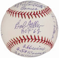 Autographs:Baseballs, Bob Feller Single Signed Stat Baseball.. ...
