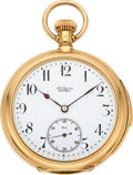 Timepieces:Pocket (post 1900), Jules Jurgensen Fine Gold Minute Repeater, Bow Set. ...