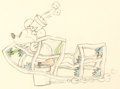 Animation Art:Production Drawing, Mickey et le Canari Dessin d'animation de Mickey (WaltDisney, 1932)....