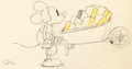 Animation Art:Production Drawing, Bâtissons Dessin d'animation de Mickey (Walt Disney,1933)....