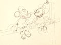 Animation Art:Production Drawing, Mickey marque un essai Dessin d'animation de Mickey et Minnie Mouse (Walt Disney, 1932)....