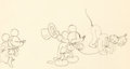 Animation Art:Production Drawing, Mickey's Gala Premier Dessin d'animation de Mickey, Minnie,et Pluto (Walt Disney, 1933)....