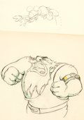 Animation Art:Production Drawing, Giantland Dessins d'animation de Mickey Mouse et deRumplewatt le Géant, lot de 2 (Walt Disney, 1933).... (Total: 2Original Art)