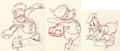 Animation Art:Production Drawing, Champion de hockey Séquence de 3 dessins d'animation de Donald Duck (Walt Disney, 1939).... (Total: 3 Original Art)
