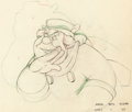 Animation Art:Production Drawing, Pinocchio Dessin d'animation du Cocher (Walt Disney,1940)....