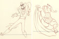Animation Art:Production Drawing, Peter Pan Dessins d'animation assortis du Capitaine Crochetet de Monsieur Mouche Lot de 2 (Walt Disney, 1953).... (Total: 2Original Art)