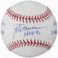 Autographs:Baseballs, Rod Carew Single Signed Stat Baseball, PSA/DNA Mint+ 9.5.. ...