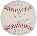 Autographs:Baseballs, Greg Maddux Single Signed Stat Baseball.. ...