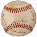 Autographs:Baseballs, 1951 New York Giants - Shot Heard 'Round The World - Team Signed Baseball (26 Signatures) with Rookie Willie Mays.. ...