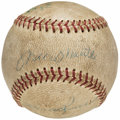 Autographs:Baseballs, 1957 Mickey Mantle & Others Multi-Signed Baseball (4Signatures).. ...