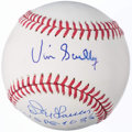 Autographs:Baseballs, Vin Scully and Don Larsen Multi-Signed Baseball.. ...