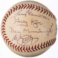 Autographs:Baseballs, 1994 Jacobs Field Opening Day Game Used Baseball, Signed by AllFour Umpires.. ...