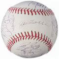 Autographs:Baseballs, 2006 New York Yankees Team Signed Baesball (28 Signatures) withCory Lidle.. ...