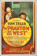 """Movie Posters:Serial, The Phantom of the West (Mascot, 1931). One Sheet (27"""" X 41"""") Chapter 4 -- """"The Battle of the Strong."""" Serial.. ..."""