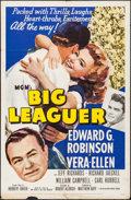 "Movie Posters:Sports, Big Leaguer (MGM, 1953). Folded, Fine+. One Sheet (27"" X 41""). Sports.. ..."