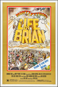 "Life of Brian (Orion, 1979). One Sheet (27"" X 41"") Style B. William Stout Artwork. Comedy"