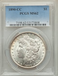 Morgan Dollars: , 1890-CC $1 MS62 PCGS. PCGS Population: (2652/6566). NGC Census: (1489/2682). CDN: $525 Whsle. Bid for problem-free NGC/PCGS...