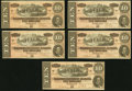 Confederate Notes:1864 Issues, T68 $10 1864 PF-15 Cr. 545. Ten Examples.. ... (Total: 10 notes)