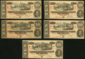 Confederate Notes:1864 Issues, T68 $10 1864 PF-15 Cr. 545. Eleven Examples.. ... (Total: 11 notes)