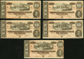 Confederate Notes:1864 Issues, T68 $10 1864 PF-15 Cr. 545 Ten Examples.. ... (Total: 10 notes)
