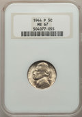 Jefferson Nickels, 1944 5C PDS Set MS67 NGC. NGC Census: (1771/3). PCGS Population: (210/3). CDN: $65 Whsle. Bid for problem-free NGC/PCGS MS6... (Total: 3 coins)