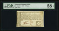 Colonial Notes:Georgia, Georgia 1776 6d PMG Choice About Unc 58 EPQ.. ...