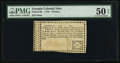 Colonial Notes:Georgia, Georgia 1776 6d PMG About Uncirculated 50 EPQ.. ...