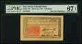 Colonial Notes:New Jersey, John Hart Signature New Jersey March 25, 1776 6s PMG Superb Gem Unc 67 EPQ.. ...