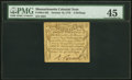 Colonial Notes:Massachusetts, Massachusetts October 16, 1778 3s PMG Choice Extremely Fine 45.. ...